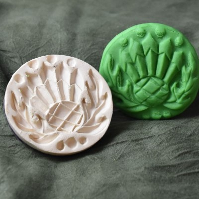 004: Thistle Cookie Stamp